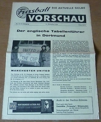 Borussia Dortmund v Manchester United, 1964/65 - Fairs Cup 2nd Rd Programme.