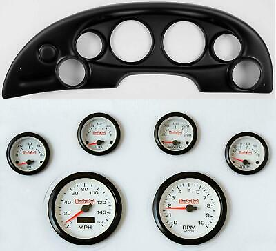 94-04 Mustang Black Dash Carrier Concorse White Face Gauges