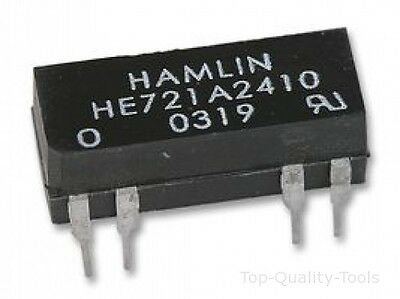 RELAY, REED, DIL, SPNO, 24VDC Part # HAMLIN HE721A2410