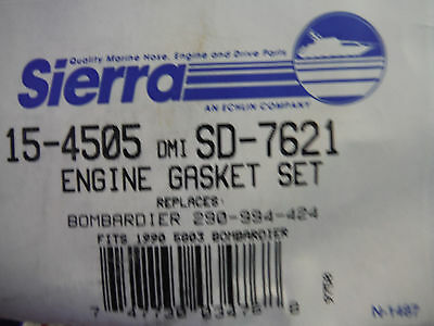new Sierra 15-4505 Engine Gasket Set Bombardier 290-994-424