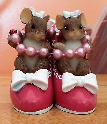 "Charming Tails ""Sole Sisters"" Fitz & Floyd Mice Family 89/373 Figurine VGC"