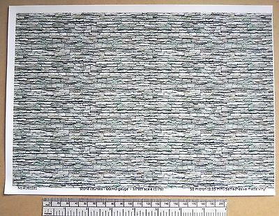 "OO/HO gauge (1:76 scale) ""stone courses"" self adhesive vinyl - A4  sheet"