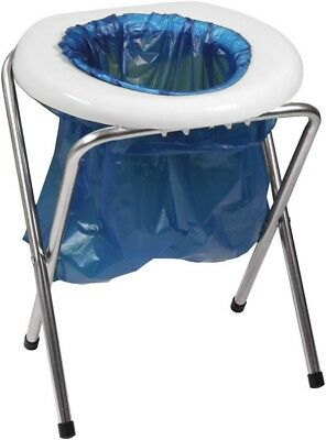 Portable Folding Camping Toilet, Outdoor Travel Potty RV Camp Commode Bucket