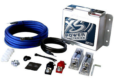 XS Power XP750-CK  XP 4 Gauge 1500W Car Audio Wire Kit+XP750 Battery+511 Mount