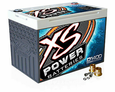 XS Power D1400 14 Volt AGM 2000 Amp Sealed Car Audio Battery/Power Cell+Terminal