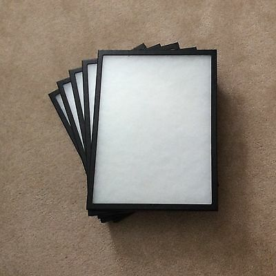 "1 - Box (of 5) 12"" x 16"" x 3/4"" Display Cases (""Riker"" type - Made in USA)"