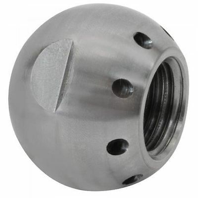 """Suttner ST-49 """"Grease Ball"""" Sewer Nozzle 1/4"""", # 8.0, 8 Back 7,252 PSI"""