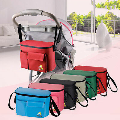 Baby Stroller Organizer Mummy Diaper Storager Insulation Nappy Multifunction Bag