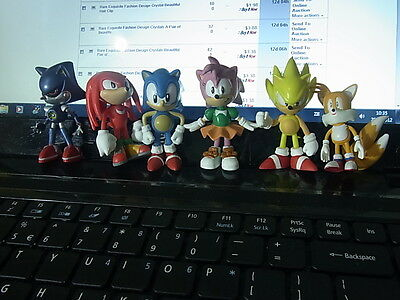 """Sonic the Hedgehog-A Lot of 6 Brand New Figures -2.5"""""""