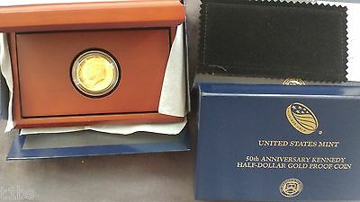 2014 Kennedy Half Dollar Gold 50th Anniversary High Relief Proof