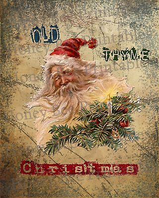 Primitive Santa Claus Belsnickel Old Thyme Christmas Folk Art PRINT ONLY 8x10