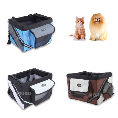 3 Colors Pet Cat Dog Bike Carrier Basket Bag F Bicycle Seat Travel +Safety Belt