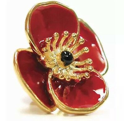 3D Poppy Badge Wear Remembrance Day * Memorial Day * ANZAC Day Lapel Pin