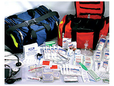 First Responder Paramedic EMT Trauma Emergency Medical Kit Fully Stocked, Blue