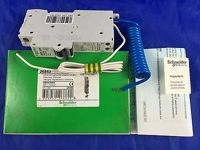 Schneider 26860 RCCB + overcurrent protection RCBO C60HC20R30 1P+N-20A-30mA-AC