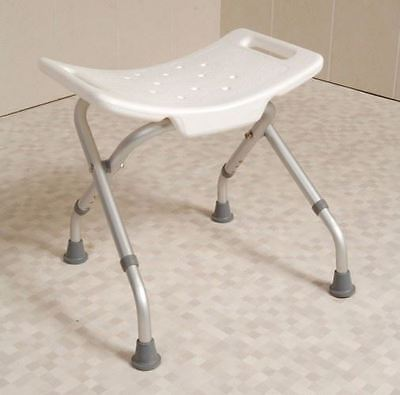 Easy Folding Travel Portable Shower Stool Bathroom Seat Bath Disability Aid
