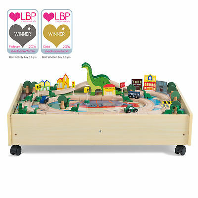 NEW Plum Wooden Roar-a-Saur Play Table MDF Timber Indoor Role Pretend Kids Toys