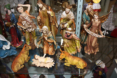 Christmas Nativity Scene Set For Christmas Decoration 11 Pieces 30.5cm Resin