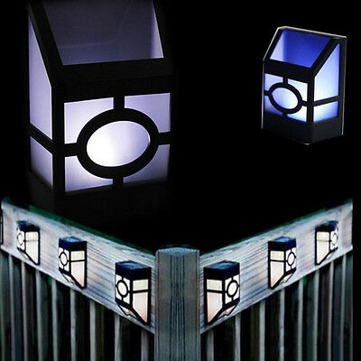 Solar Powered Wall Mount LED Light Outdoor Garden Path Fence Landscape Yard Lamp