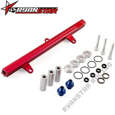Aluminum Top Feed High Flow Fuel Injector Rail Kit For 240Sx Sr20Det Red
