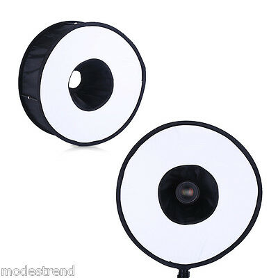 """Universal Round Photo Collapsible Magnetic Ring Flash Diffuser Softbox 46cm/ 18"""""""