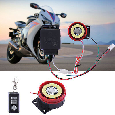 New Anti-theft Security Alarm System Remote Control Motorcycle Scooter Car DC12V