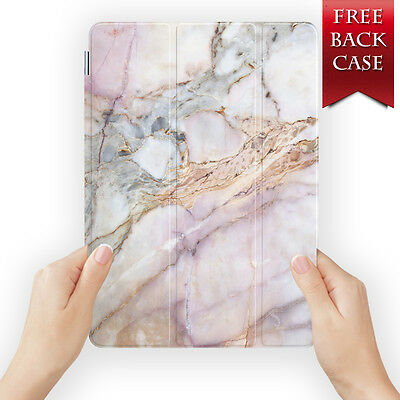 Marble Gemstone Smart Case Cover For Ipad 2 3 4 5 6 Air Mini Pro 9.7 12.9 Retina