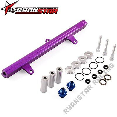 Aluminum Top Feed High Flow Fuel Injector Rail Kit For 240Sx Sr20Det Purple