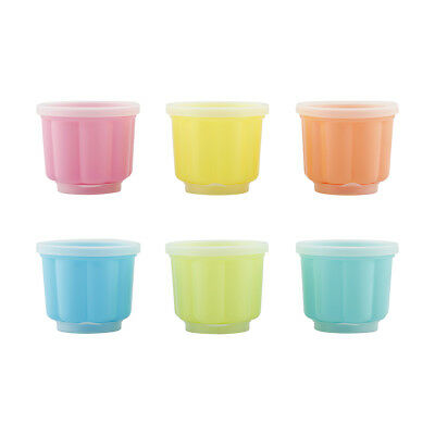 6x Coloured Jelly Moulds Cups Kitchen