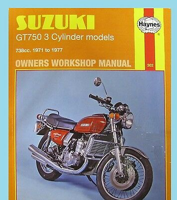 MAN302 Haynes Workshop Manual Suzuki GT GT750 models 1971 to 1977