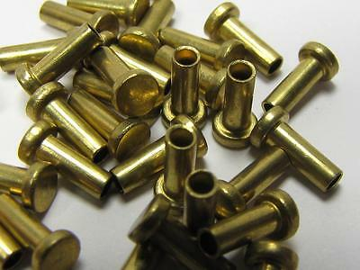 NEW-KNIFE-PARTS-KITS-ACCESSORIES: SCHRADE Brass SCALE Rivets 6 mm shaft S278