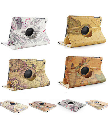 Retro Smart PU Leather Case Cover Apple iPad Mini / 2Tablet 360 Rotating Stand