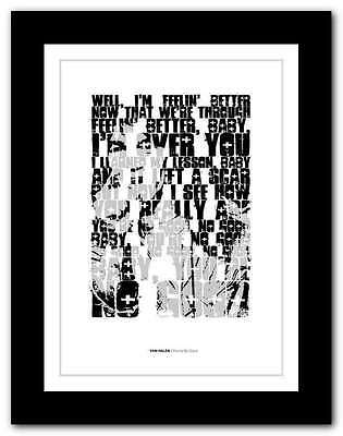 VAN HALEN - You're No Good ❤ typography quote poster limited edition print #97