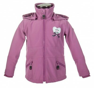 Kinder Softshelljacke Paradiso Little Sister dunkelpink NEU