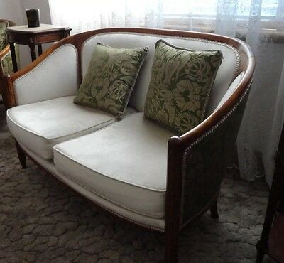 French Art Deco Canape lounge sofa   Fortuny Fabric