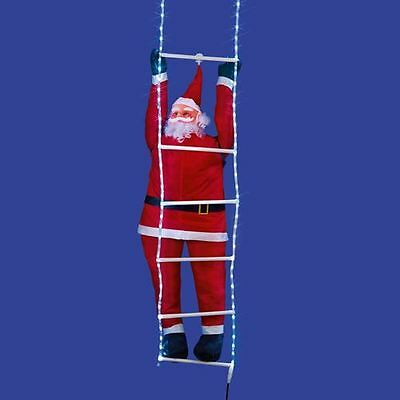 1.5m Santa Climbing Ladder Lit with 96 LED's Outdoor Display