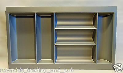 800mm Blum Kitchen Cutlery Drawer Tray Insert in Grey Plastic for Tandembox 80cm