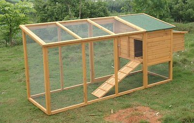 Chicken Coop with Extra Long Run