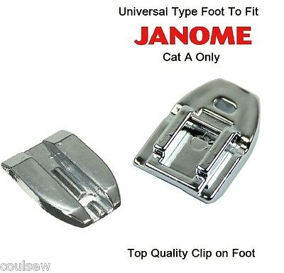 Concealed invisible zip zipper foot Fits JANOME Cat A Machines - Quick Clip On