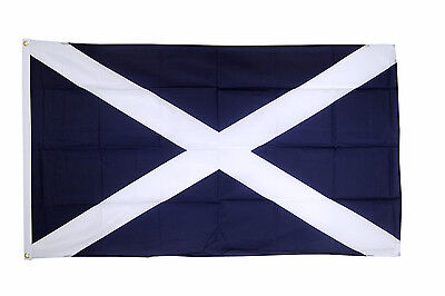 Scotland St Andrews Dark Blue Flag 5 x 3 FT 100% Polyester Eyelets Country IE