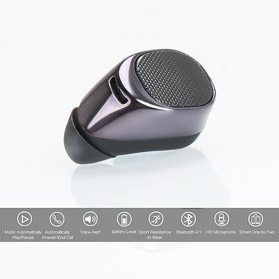 Small Mini Wireless Bluetooth Stereo In-Ear Earphone Headphone Headset Earbuds