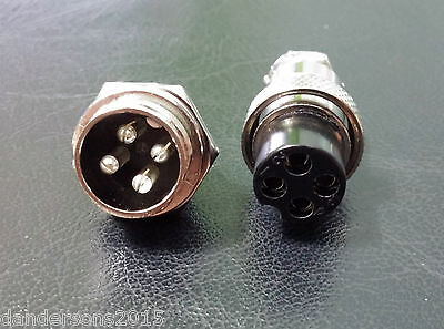 GX16 4 Pin 16mm Aviation / Automotive Connector Female Socket Male Plug