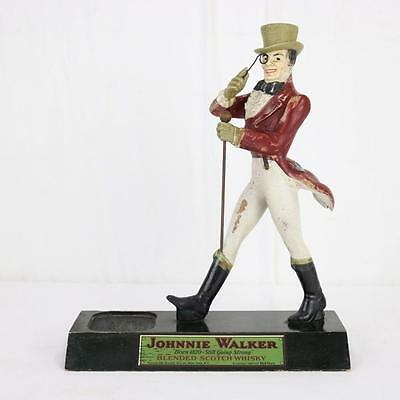 """Johnnie Walker Vintage 14"""" Advertising Figure w/ Bottle Holder Early and Rare"""