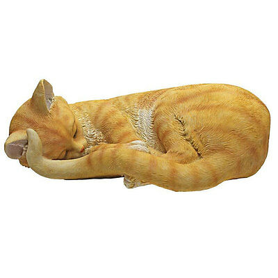 Design Toscano Sleeping Cat kitten Garden Statue ornament