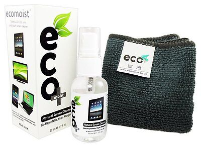 Ecomoist Natural Screen Cleaner 50ml with Fine Microfiber Towel Brand NEW & FAST