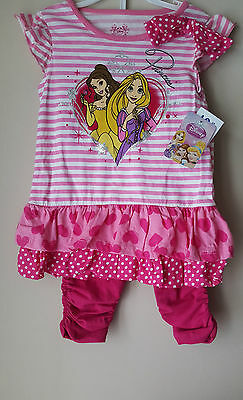 Girls 2 Pc Disney Outfit Size 4 Years