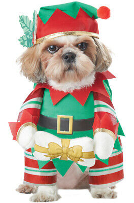 Brand New Santa Elf Pup Christmas Pet Dog Costume