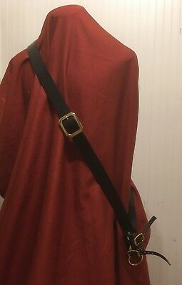 """1.5"""" width Top Quality Leather Baldric - loop or buckle  - SCA Pirate SCA LARP"""