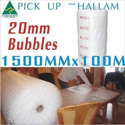 1500mm x 100M Bubble Wrap Roll 20mm Bubbles Aus-Made P20 PickUp Only