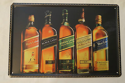 RETRO STYLE TIN SIGN - Johnnie Walker - The Collection